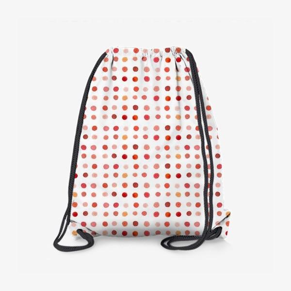Рюкзак «Горошек розовый, паттерн»