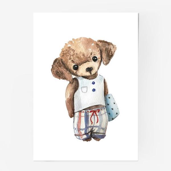 Постер «Собачка в пижаме»