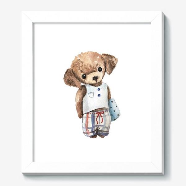 Картина «Собачка в пижаме»