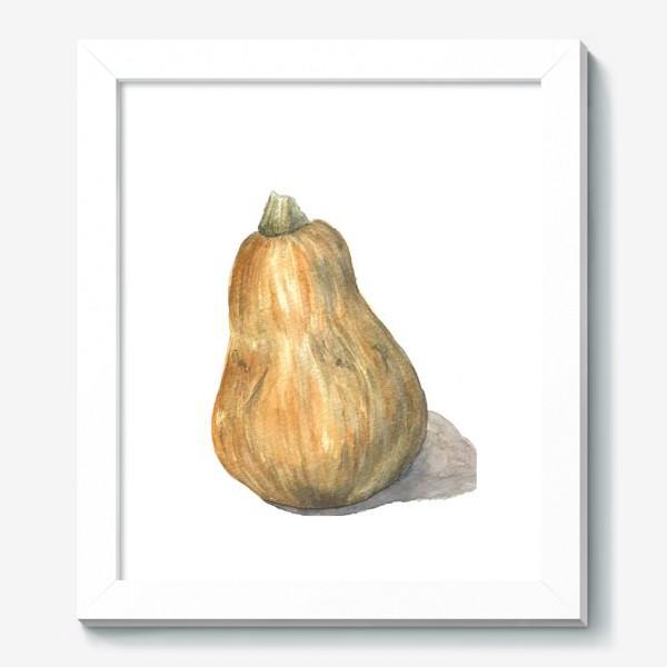 Картина «Продолговатая тыква, нарисованная акварелью»