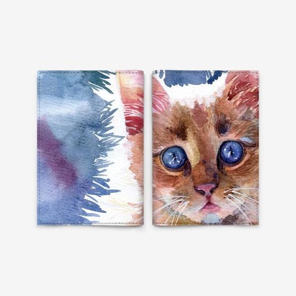 Обложка для паспорта «Рыжий котенок»