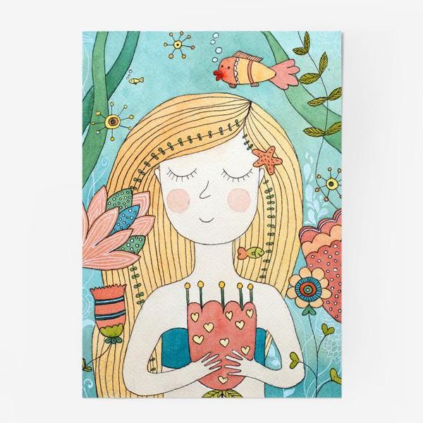 Постер «Подводный мир. Русалочка.»