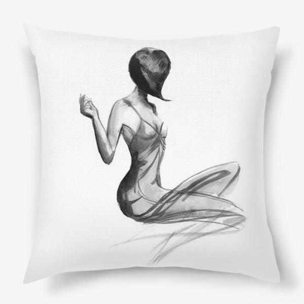 Подушка «Девушка в стиле ретро»