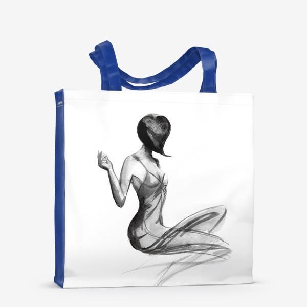 Сумка-шоппер «Девушка в стиле ретро»