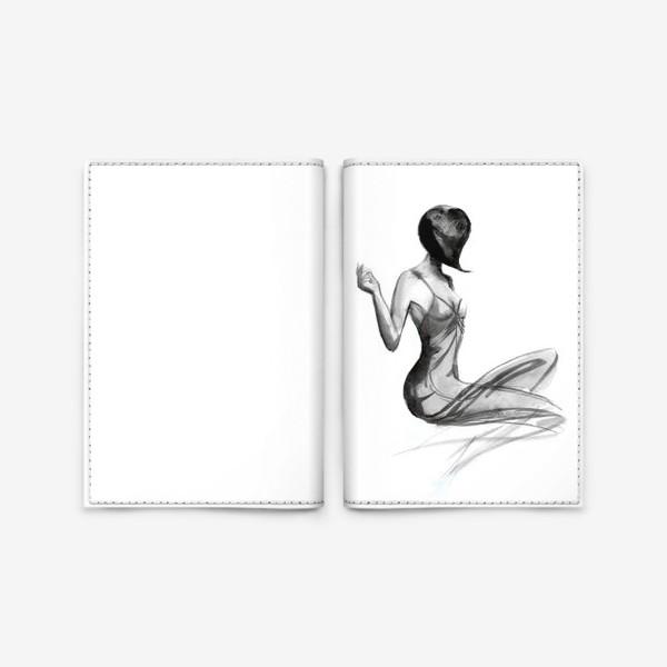 Обложка для паспорта «Девушка в стиле ретро»