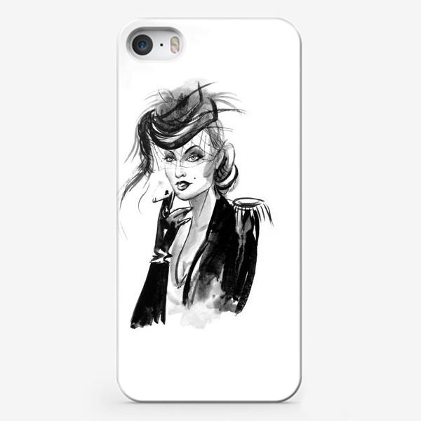Чехол iPhone «Девушка в шляпке с вуалью»