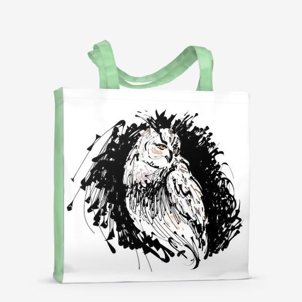 Сумка-шоппер «Сова с характером - выразительная графика»