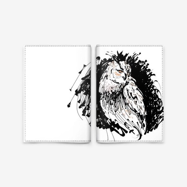 Обложка для паспорта «Сова с характером - выразительная графика»