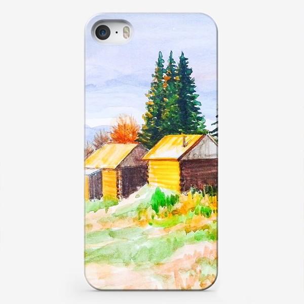 Чехол iPhone «Деревушка»
