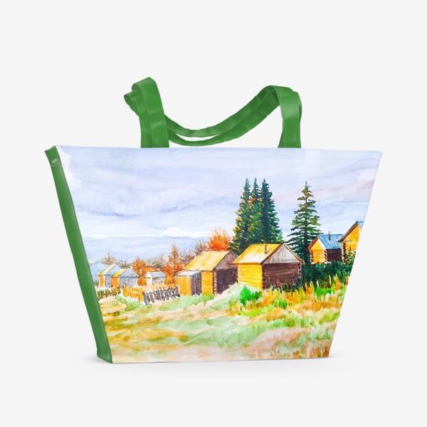 Пляжная сумка «Деревушка»