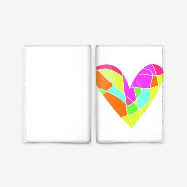 Обложка для паспорта «Мозаичное сердце»