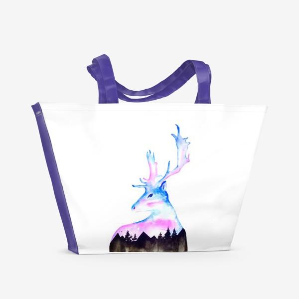 Пляжная сумка «Ночной Олень»