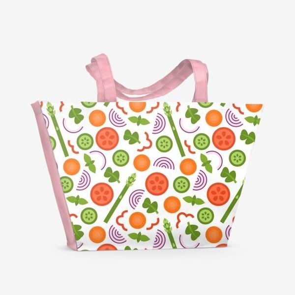 Пляжная сумка «Овощное танго»