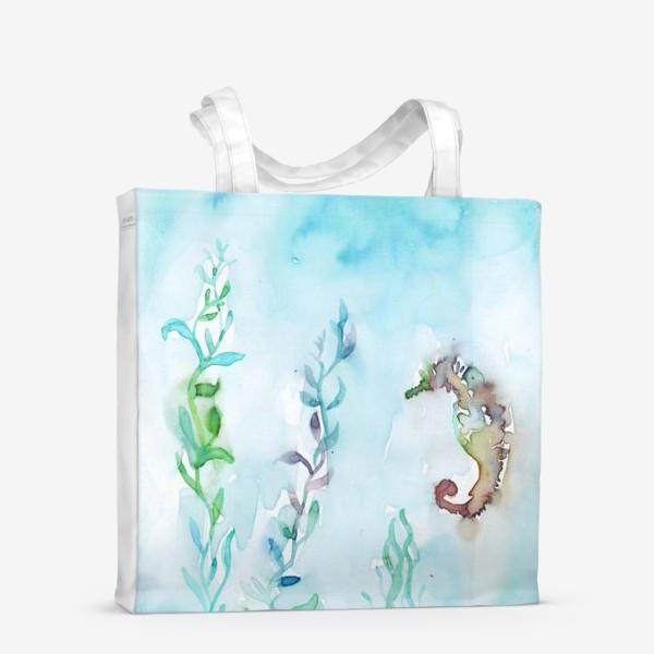 Сумка-шоппер «Морской конек на глубине»