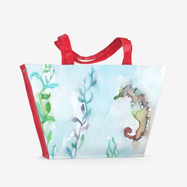 Пляжная сумка «Морской конек на глубине»