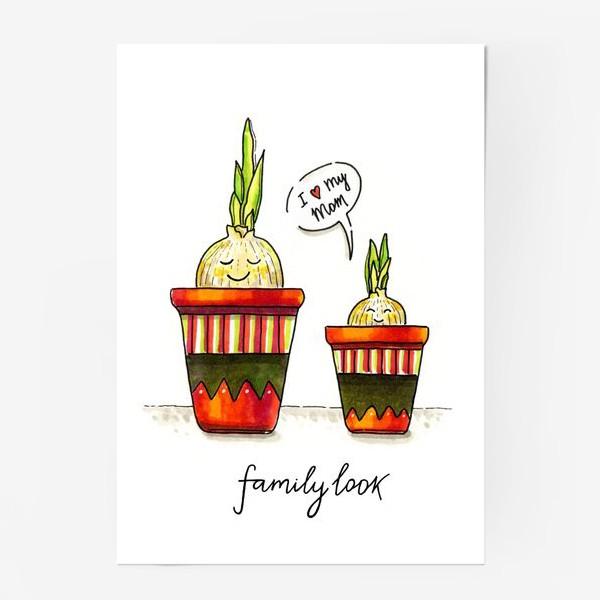 Постер «FAMILY LOOK. RED»