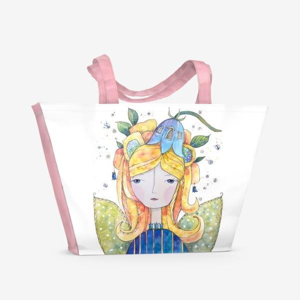 Пляжная сумка «Фея Колокольчик.»