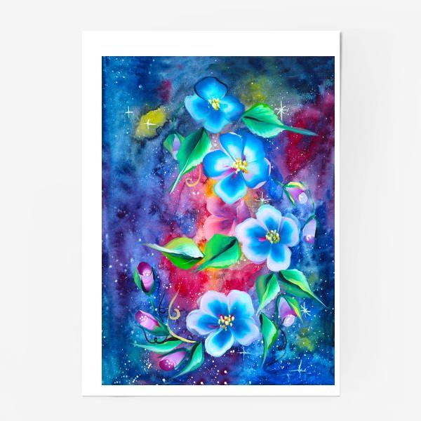 Постер «космо цветы»
