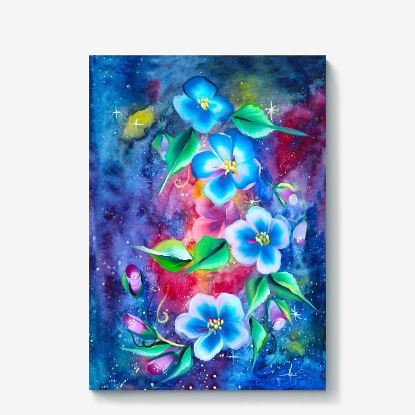 Холст «космо цветы»