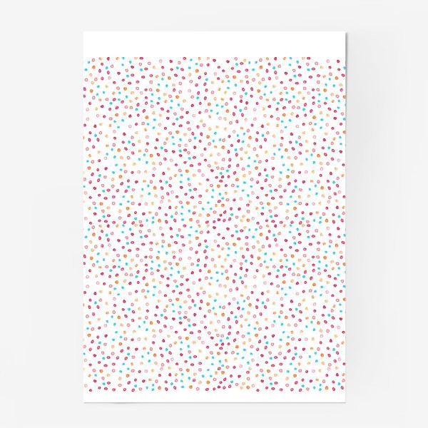 Постер «Весёлые акварельные точки, паттерн»