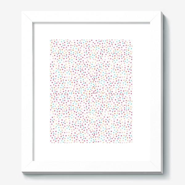 Картина «Весёлые акварельные точки, паттерн»