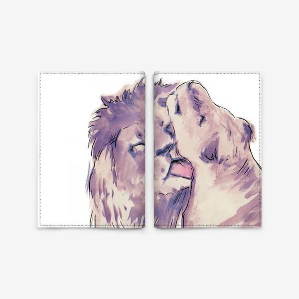 Обложка для паспорта «Львяки.»