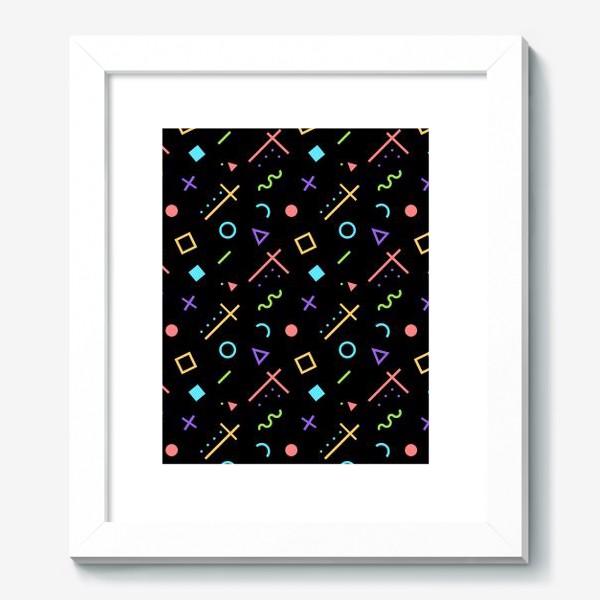 Картина «Неоновый геометрический узор»