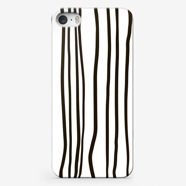 Чехол iPhone «Стильный паттерн. Полосы жизни.»