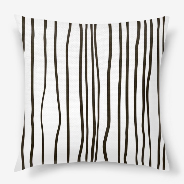 Подушка «Стильный паттерн. Полосы жизни.»