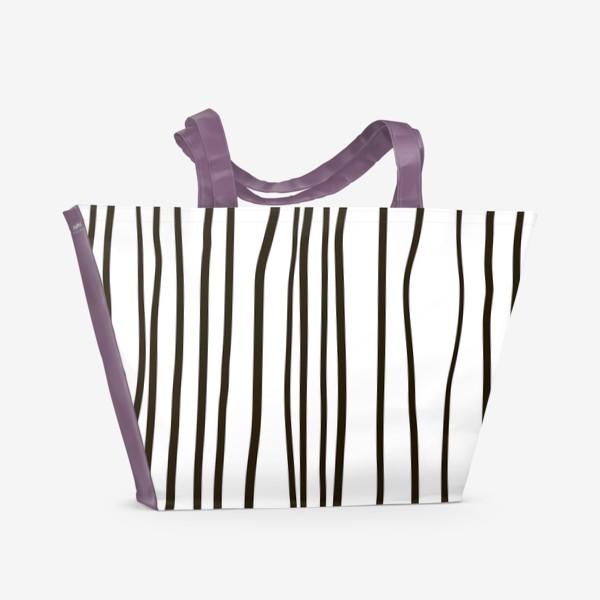 Пляжная сумка «Стильный паттерн. Полосы жизни.»