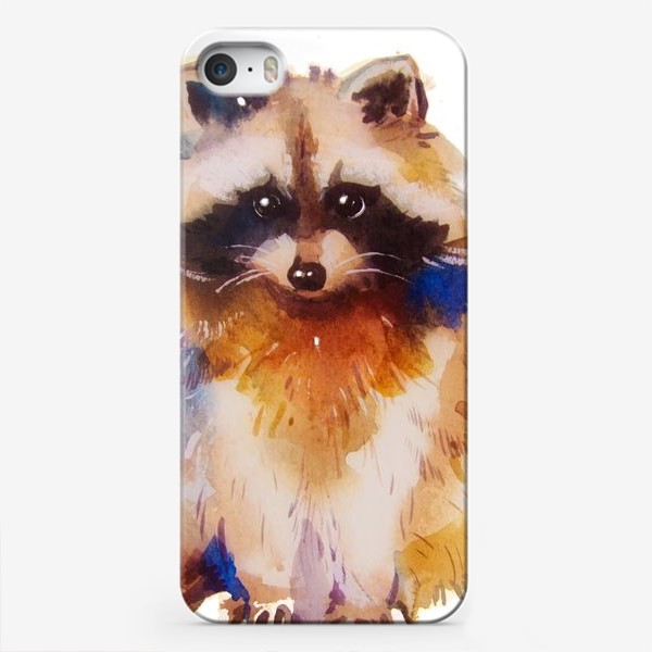Чехол iPhone «Енот с хвостом»
