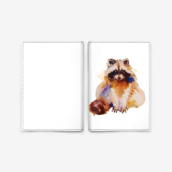 Обложка для паспорта «Енот с хвостом»