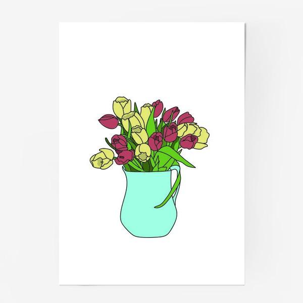 Постер «Тюльпаны в кувшине 2»