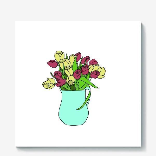 Холст «Тюльпаны в кувшине 2»