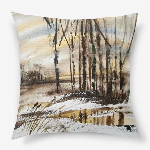 Подушка «Весенний этюд»