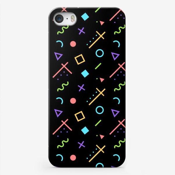 Чехол iPhone «Неоновый геометрический узор»