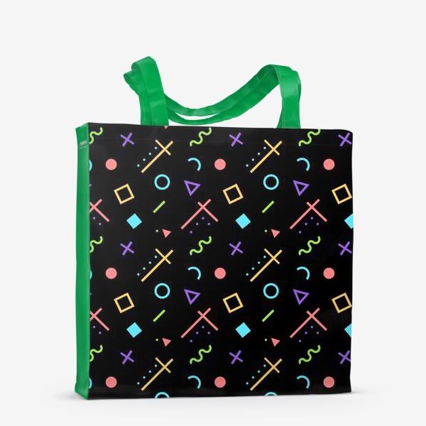 Сумка-шоппер «Неоновый геометрический узор»