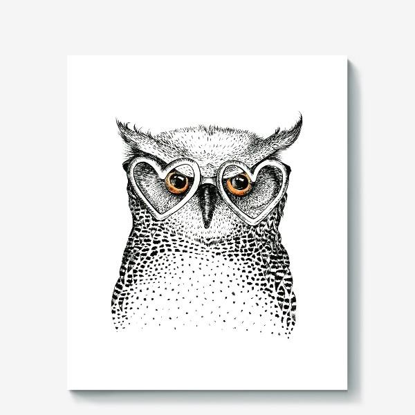 Холст «I love owls»