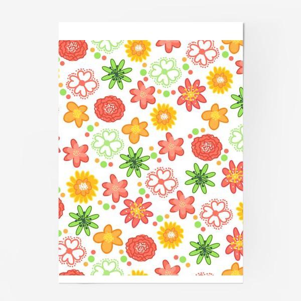 Постер «Радужные цветы»