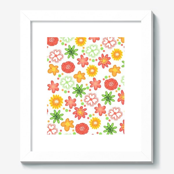 Картина «Радужные цветы»