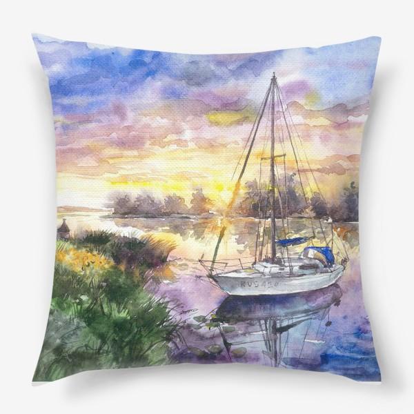 Подушка «Яхта на Волге»