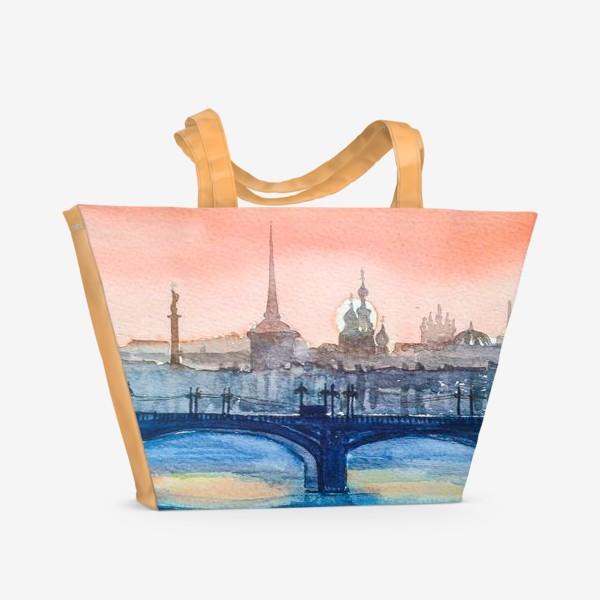 Пляжная сумка «Мосты Петербурга»