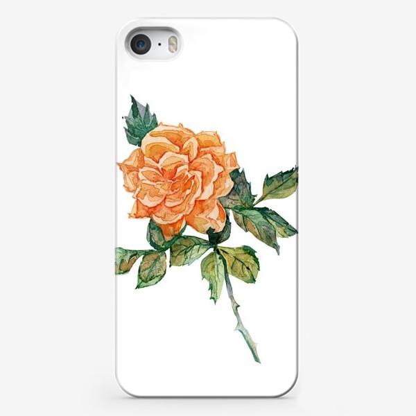 Чехол iPhone «рыжая роза»