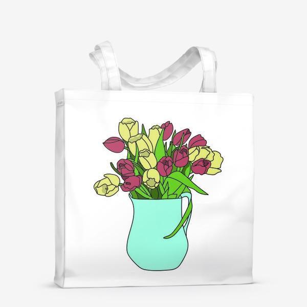 Сумка-шоппер «Тюльпаны в кувшине 2»