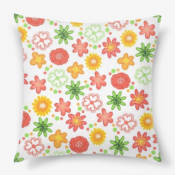 Подушка «Радужные цветы»