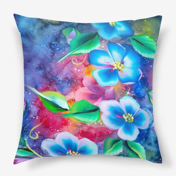 Подушка «космо цветы»