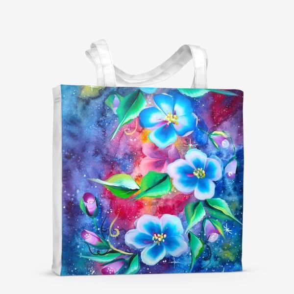 Сумка-шоппер «космо цветы»