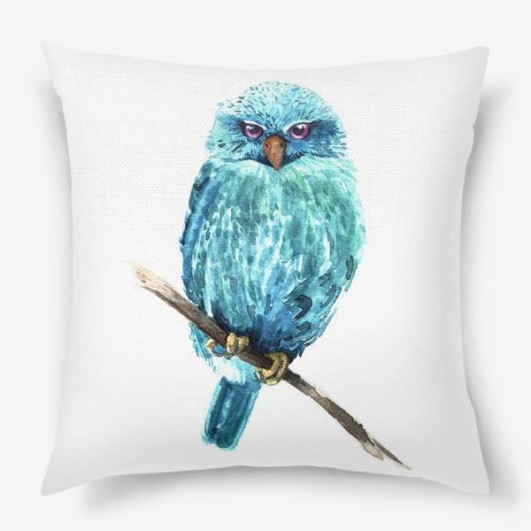 Подушка «Акварельная сова»