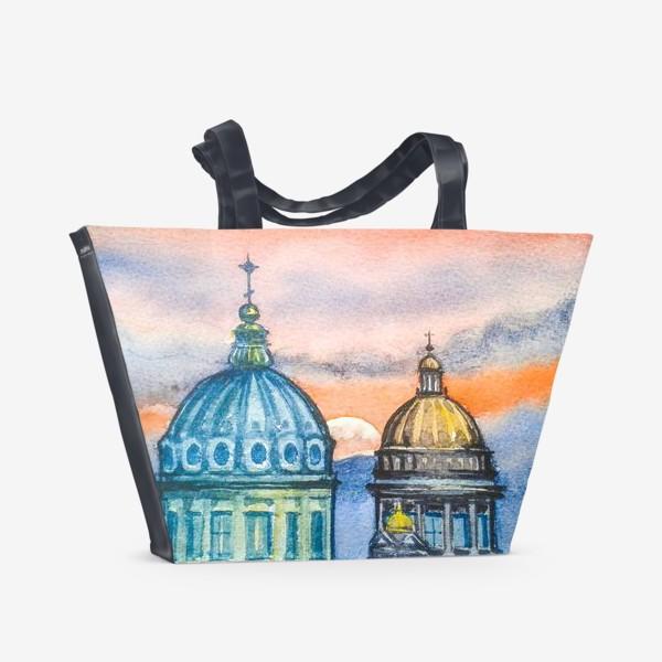 Пляжная сумка «Соборы Петербурга»