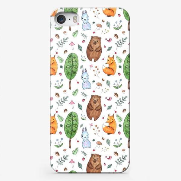 Чехол iPhone «Мишка и друзья»